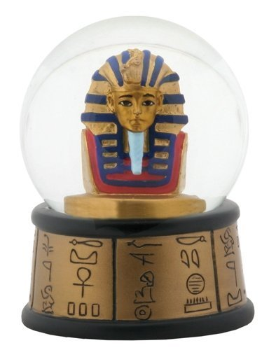 3.5 Inch Cold Cast Resin Egyptian Pharaoh King Tut Water Snow Globe