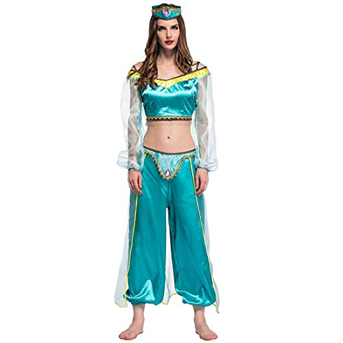 Slocyclub India Belly Dance Party Adult Jasmine Costume