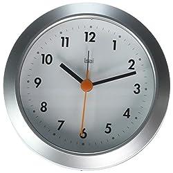BAI Twister Desk/Wall Clock, Futura Satin Silver