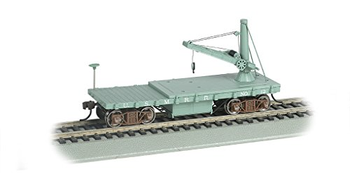 Bachmann Industries Old Time Maintenance of Way Derrick US Military Rr Freight - Car American Freight