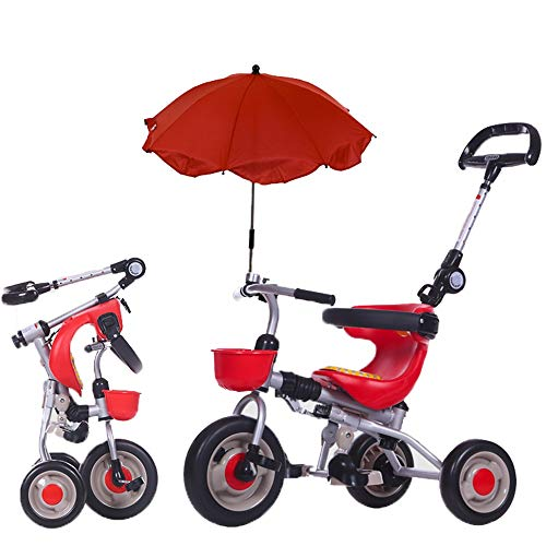 (YUMEIGE Kids' Tricycles Kids Tricycle with Parasols 1-6 Years Old Birthday Gift Kids Strollers Toddler Trike Load Weight 25 Kg (Boy/Girl) Available (Color : Red))