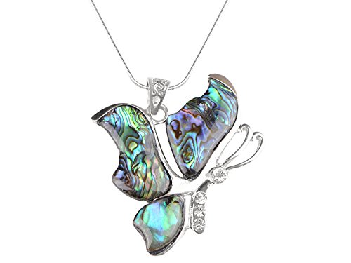 Alilang Womens Multicolored Broken Abstract Butterfly Pendant Necklace