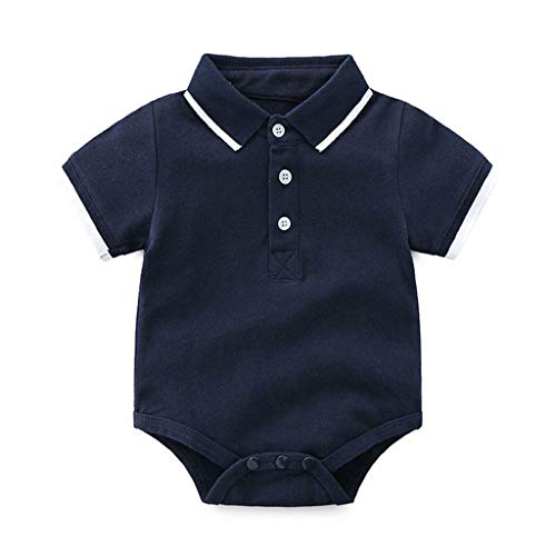 33a8aa061 Cuekondy 3-24 Months Newborn Toddler Baby Boy Summer Gentleman Clothes  Outfit Short Sleeve T