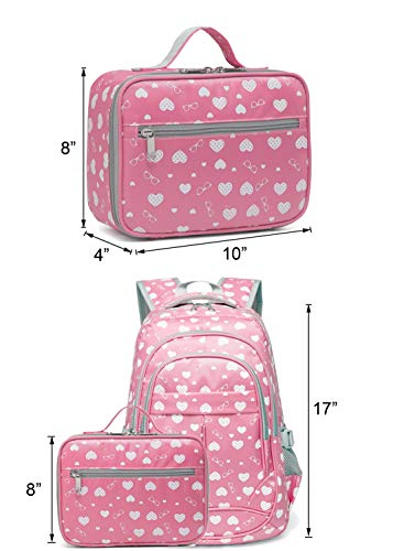 532debf47ce6 BLUEFAIRY Girls Insulated Lunch Bags for Toddler Kids Lunchbag for School  Outdoor Camping Food Cooler Lunchbox Box Carrier (Pink)