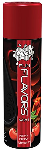 Wet Cherry Flavored Lube, Fun Flavors 4 In 1 Warming Water Based Lubricant, 4.1 Ounce