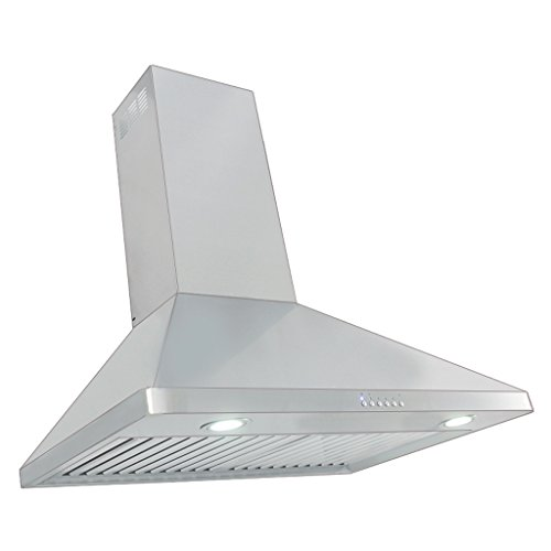 "Proline PLJW 129.30 30"" Wall Mount Range Hood - 4 Speed - 900 CFM Blower - Stainless Steel Professional Baffle Filters Dishwasher safe"