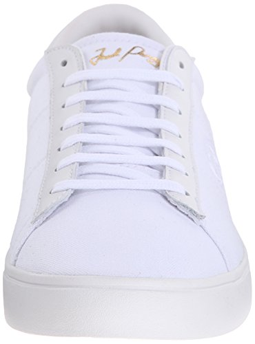 Fred Perry Wmns Spencer Canvas Leather White Blanco