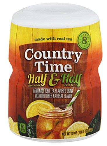 Country Time Half Lemonade Half Iced Tea, 19-Ounce (Pack of 4)