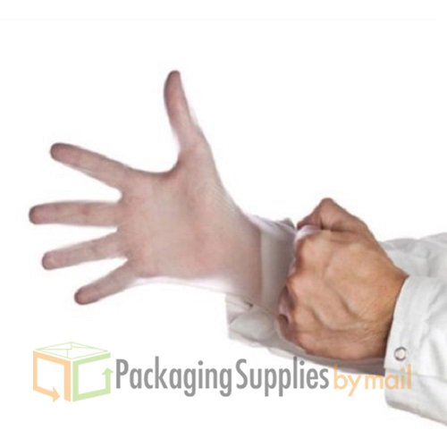 Disposable Vinyl Powdered Industrial 4.5 Mil Large Gloves 8000 Pcs by PackagingSuppliesByMail