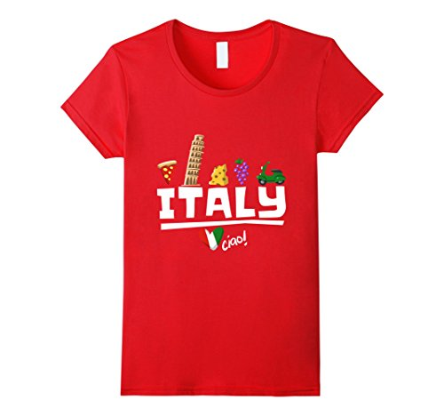 Womens Love Italy and Everything Italian Culture T-shirt Large Red - Italy Love Italian