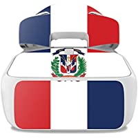 Skin For DJI Goggles – Dominican Flag | MightySkins Protective, Durable, and Unique Vinyl Decal wrap cover | Easy To Apply, Remove, and Change Styles | Made in the USA