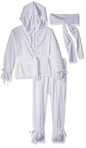[RG Costumes Ninja, White, Child Medium/Size 8-10] (White Ninja Costumes For Kids)