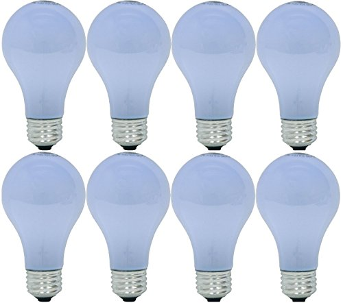 60w Ge Lighting (GE Lighting 67770 Reveal 43-Watt (60-Watt Replacement) 565-Lumen A19 Light Bulb with Medium Base, 8-Pack)