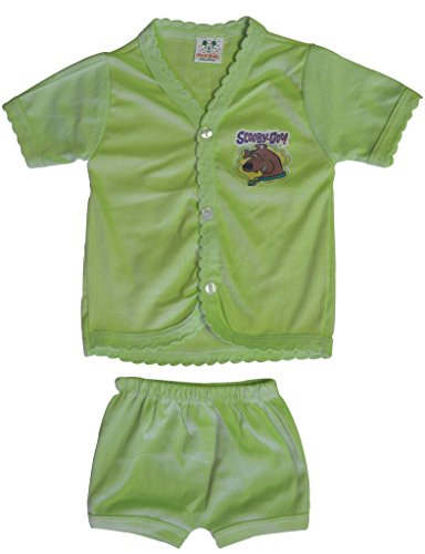 Cool Baby Baby's Cotton Silk Shirts and Matching Shorts (Multicolour, 0-6 Months) – Set of 5