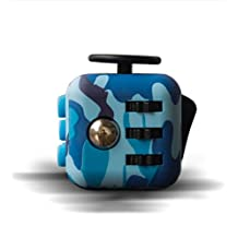 Fidget Cube Relieves Stress And Anxiety for Children and Adults (camouflage blue)