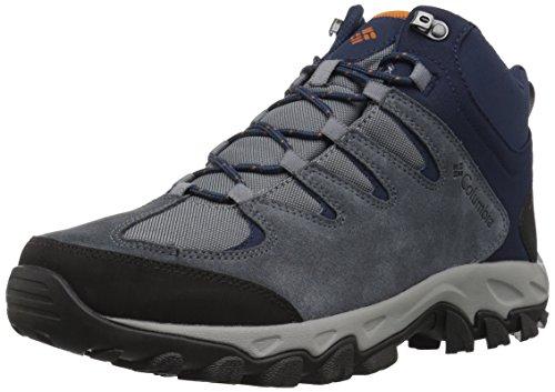 - Columbia Men's Buxton Peak MID Waterproof Wide Hiking Boot, Grey ash, Bright Copper, 8.5 US