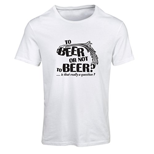 lepni.me N4176F To Beer .or. Not To Beer Funny Gift Female Short Sleeve t-Shirt (XL, White - Shop Online Laurent Saint
