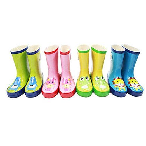 Tendance Kid Chaussures de pluie Bottes pour enfants Bottes de pluie imperméable, vert, Hippo
