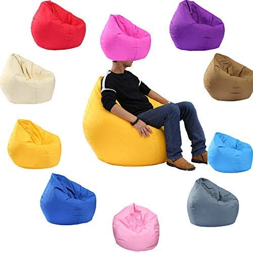 CiKiXZ Pear Beanbag Cover Lazy Bean Bag Chair Cover Reclining for Children Adults Playroom Bedroom No Filler