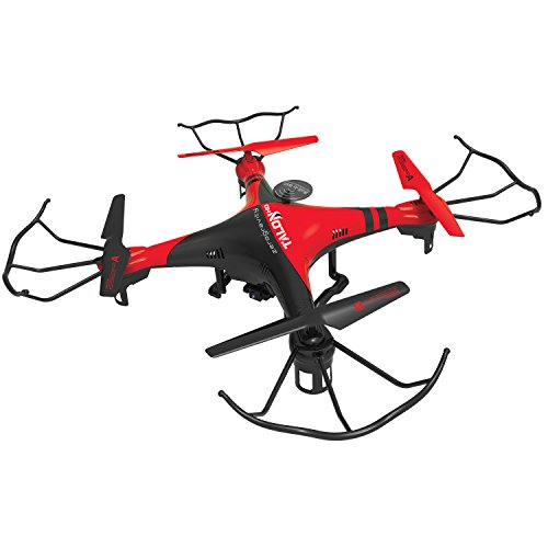 PCT Brands Zero Gravity Talon HD Wi-Fi Drone with 3 Batteries for 20 Minutes Flying Time, Red, Large