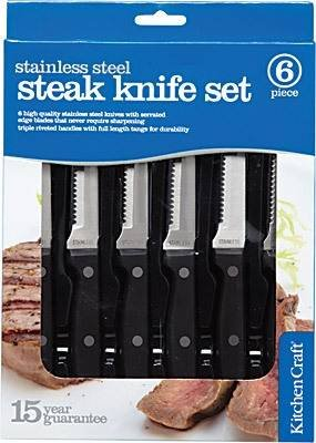 - Kitchen Craft Deluxe Six Piece Steak Knife Set