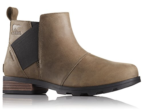 Sorel - Women's Emelie Chelsea Waterproof Ankle Boots, Major/Black, 7.5 M US