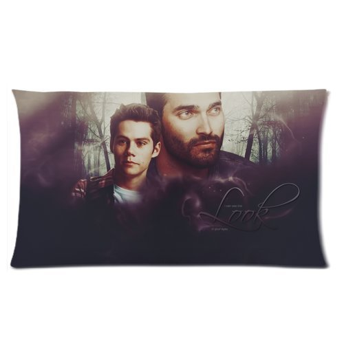 Generic Teen-Wolf Handsome Dylan O'Brien Cotton And Polyester Rectangle Standard Pillowcases Case 20 by 36 (Teenwolf Costumes)