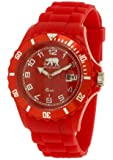 Arctic - Rougeh - Montre Homme - Quartz Analogique - Cadran Rouge - Bracelet Silicone Rouge