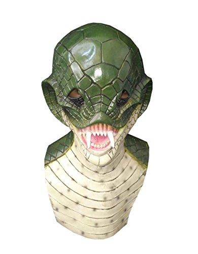 DylunSky New Halloween Lovely Frog Latex Mask Scary Cobra Snake Tricky Toy (Cobra)]()
