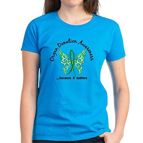 CafePress Women's Dark T Shirt Womens Cotton T-Shirt Caribbean Blue]()