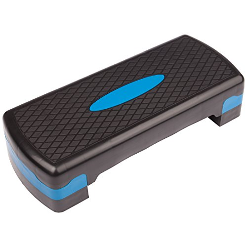 Ultrasport Aerobic Stepbrett höhenverstellbar, grau/blau, One Size, 331100000094