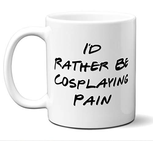 Funny Pain Rather Be Cosplaying Costume Lover Mug, Coffee, Tea Cup. Ideal Novelty Gift for Naruto: Shippuuden Fans Manga, Otaku, Japan, Naruto, Japanese Anime Lovers. 11 oz.