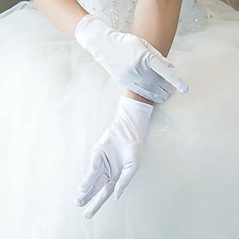 Sconosciuto Multiware donne breve satin Evening party guanti