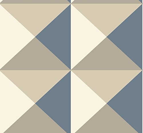 York Wallcoverings RY2750 Risky Business 2 Origami Removable Wallpaper, Brown/Blue/Cream
