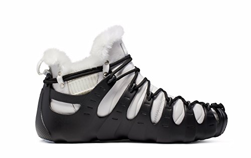 Three Wearing Black Ankle Roman White Winter Sneakers Fur Lined of High Shoes Women's Ways Boots ONEMIX 6Bq0vI6
