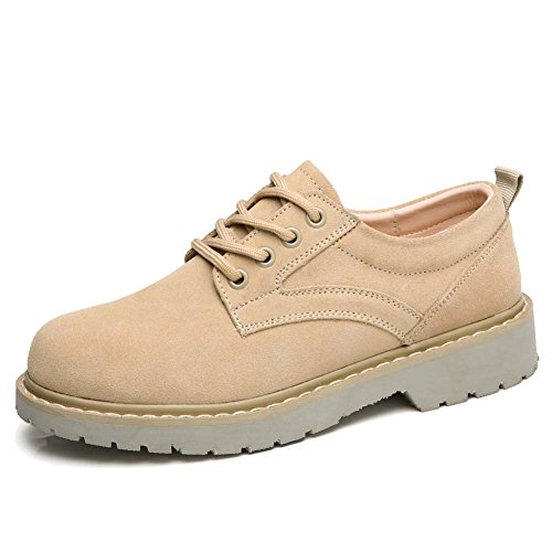 up Lace Tan Casual Shoes Top Sneakers Womens Suede Leather Round Low Vamp suede Oxfords Toe qBXwRxfp