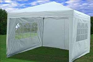 10x10 Pop up Canopy Party Tent Gazebo Ez CS--white