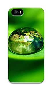 iPhone 5 5S Case Green water droplets 3D Custom iPhone 5 5S Case Cover