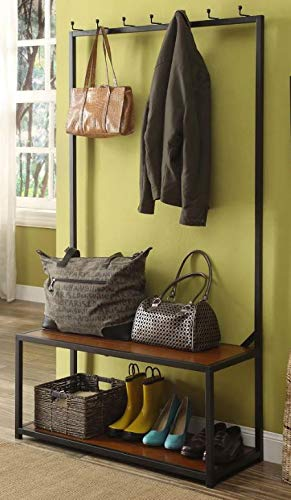 Amazon.com: Etto- Hall Trees with Bench and Coat Racks ...