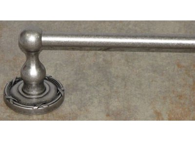 (Top Knobs ED8APE Bath Edwardian Collection 24 Inch Single Towel Bar with Ribbon Backplate, Antique Pewter Finish)