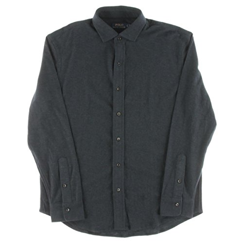 Polo Ralph Lauren Mens Jacquard Long Sleeves Button-Down Shirt Navy - Online Shop Free Shipping
