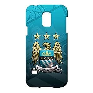 3D Manchester Logo Phone Case for for Samsung Galaxy S5 Mini Fashion Design Premier League 3D Manchester City FC Logo Cover Case Fit Samsung Galaxy S5 Mini