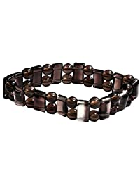 Satyamani Natural Smokey Quartz Healing Gemstone Bracelet For Grounding (SMAS0246N)