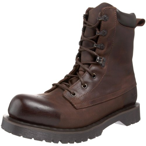 Boot Martens Warner Dr Brown Unisex 4Baqxpg