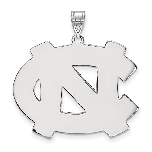 Unc Pendant Sterling Silver Jewelry - Sterling Silver LogoArt Official Licensed Collegiate University of North Carolina (UNC) XL Pendant