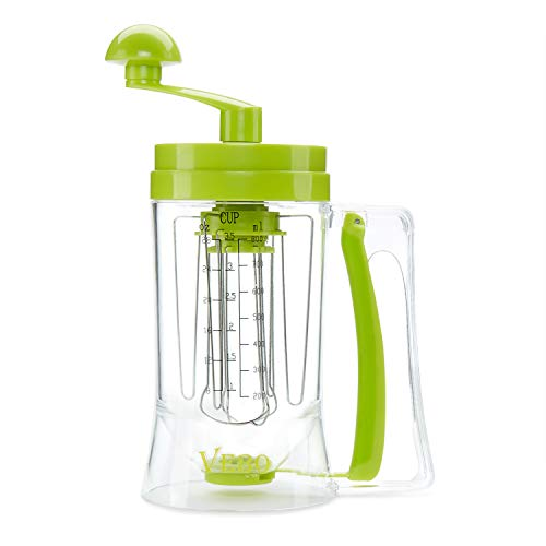 Premium Batter Dispenser with Mixer & Measuring Label: BPA-Free, Food-Grade Plastic Dispenser For Cupcakes, Pancakes, Muffins, Crepes, Cakes, Waffles & More | Best Bakeware Tool For Desserts By VeBo