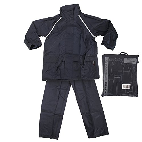 ProClimate Childrens Waterproof Rain Suit (Trousers/Pants And Jacket Set) (11-12 Years) (Navy) (Kids Rain Gear compare prices)