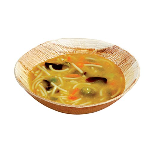 Palm Leaf Mini Bowl (Case of 100), PacknWood - Biodegradable Wooden Bowls for (6 oz, 4.7