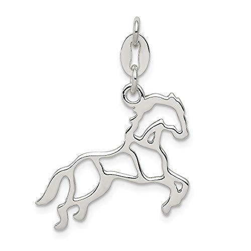 Jewelry Pendants & Charms Themed Charms Sterling Silver Polished Horse Charm ()