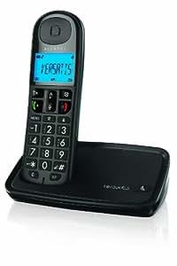 Alcatel Versatis XL 250 - Teléfono fijo, color negro